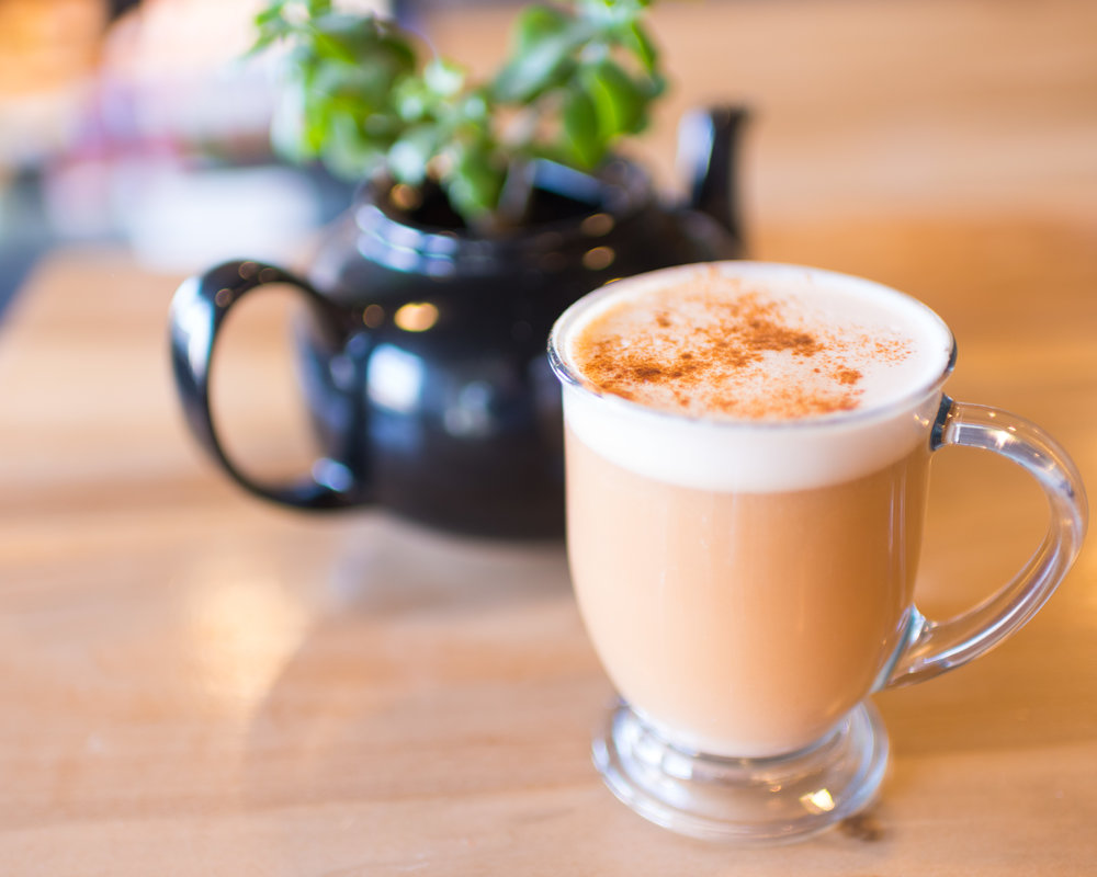 Here comes a curve ball - a Rooibus Tea Latte (with Almond Milk, ofc).