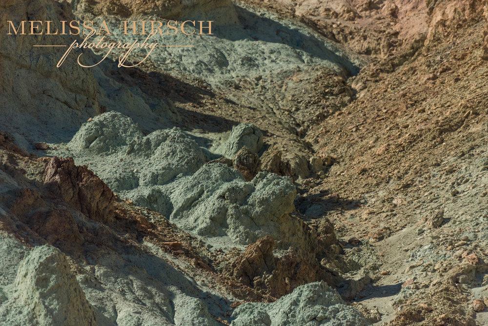 Green rocks in Death Valley