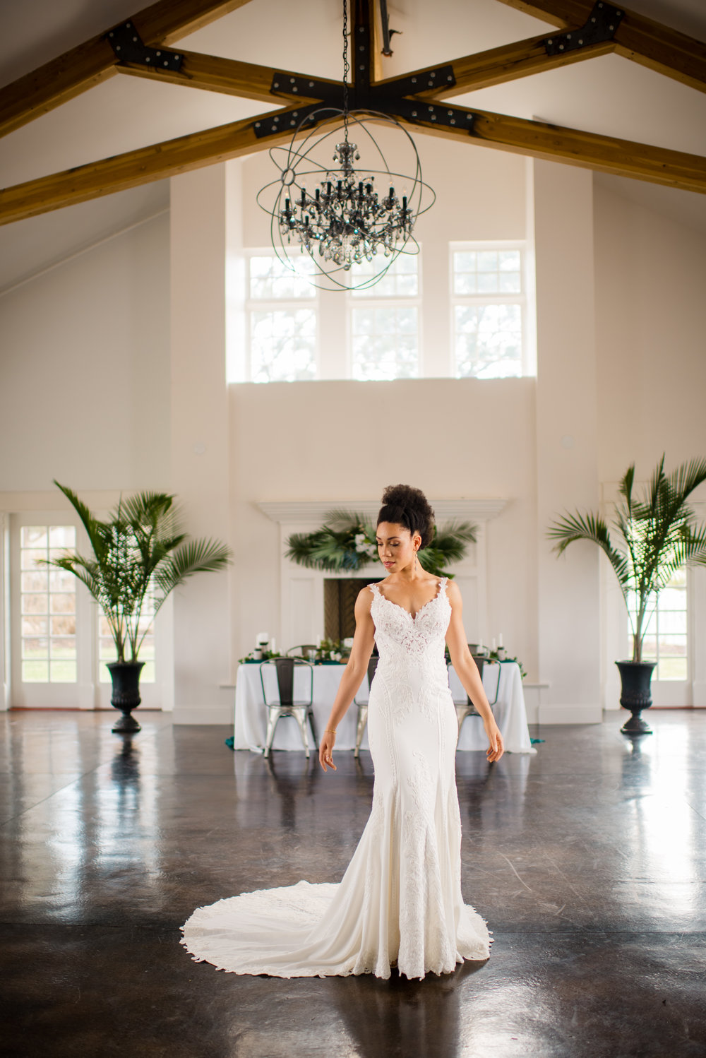 She's so graceful in this Martina Liana gown.