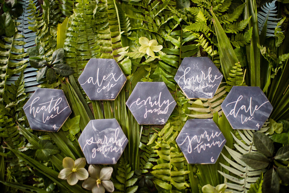 Geometric, hand-lettered - could these be more on trend?!