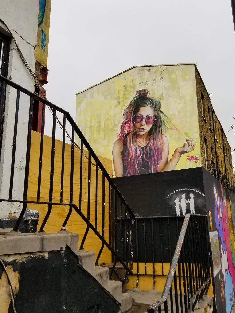 Street art in Camden.