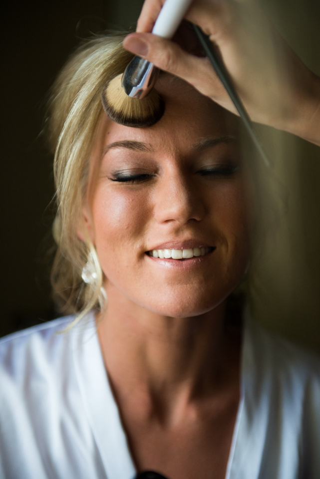Makeup before ceremony time at Arrowhead Golf Course!