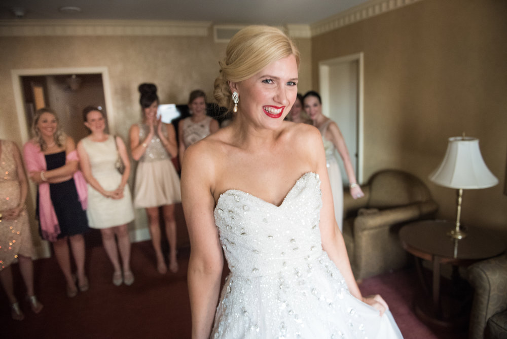 Bridesmaid reveal at the Brown Palace!