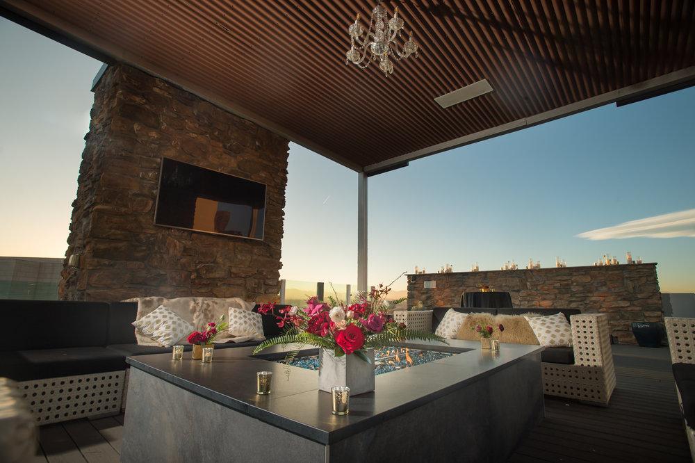 black tie wedding rooftop denver