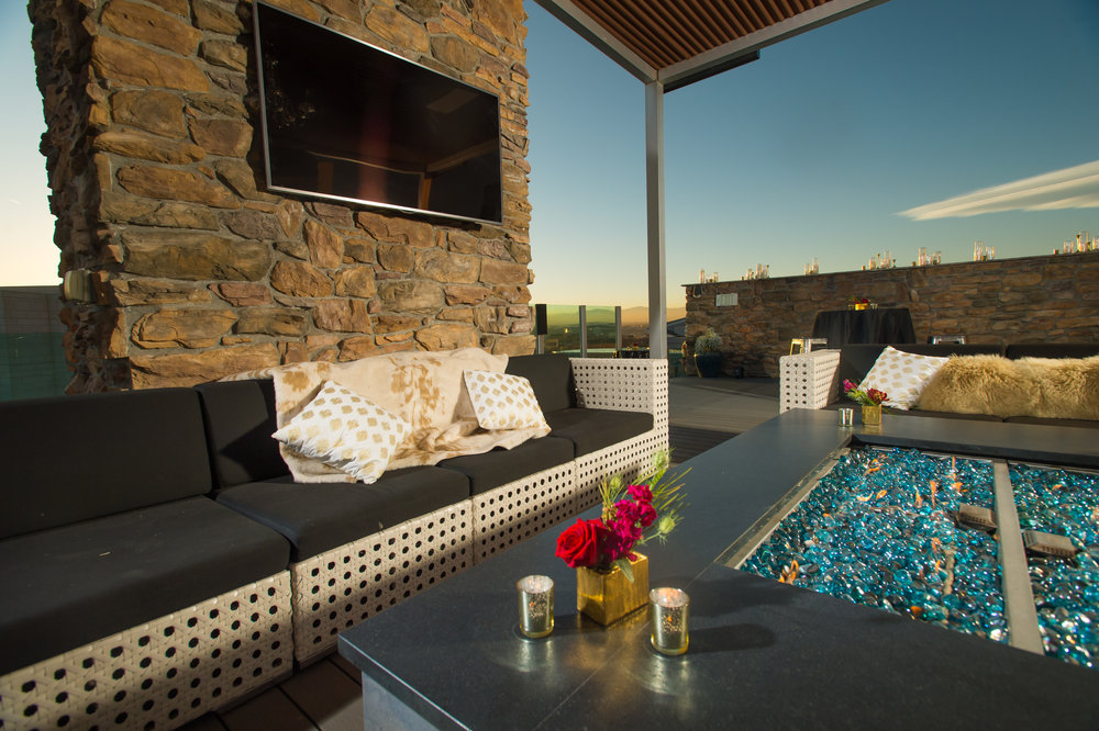 lounge rentals denver rooftop wedding