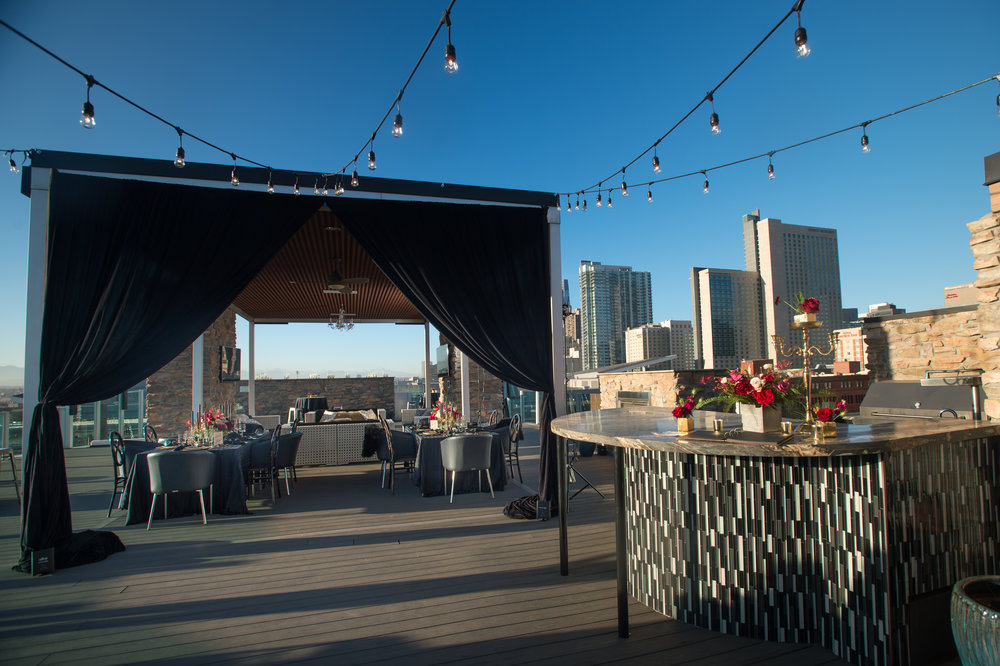 black tie rooftop wedding denver wedding planner