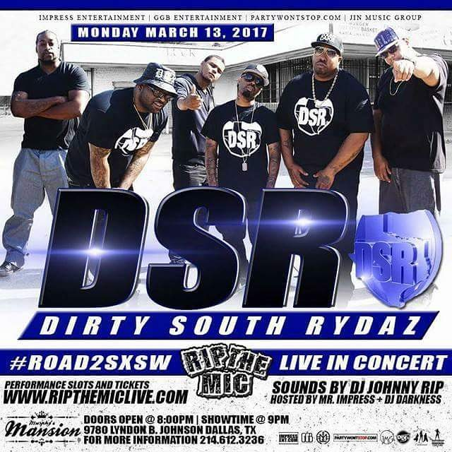 Monday March 13th @DirtySouthRydaz #LiveInConcert @MurphysMansionDallas (9780 Lyndon B. Johnson Fwy. Dallas, TX) 2 for 1 $10 Pre-Sale Tickets Only at www.ripthemiclive.com . . . Doors open at 8pm Showtime at 9pm w/ @DJJohnnyRip @DJDarkness214 Powered by @MrImpress @ImpressEnt For performance slots and reservations call/text 214.612.3236 . . . Submit your events at www.partywontstop.com . . . #ripthemic #ripthemiclive #ripthemicdallas #dsr #dirtysouthrydaz #impressentertainment #partywontstop #partywontstoplive #dallashiphop #dallasrap #dallasmusic #dallasartist #dallasshowcase #dallas #dfw #fortworth #dallastx #dallasbars #dallasclubs #dallasparties #dallasparty #dfwparties #downtowndallas #dallasfashion #northdallas #dallasmodels #dallasconcert #advertisewithus #submityourevents