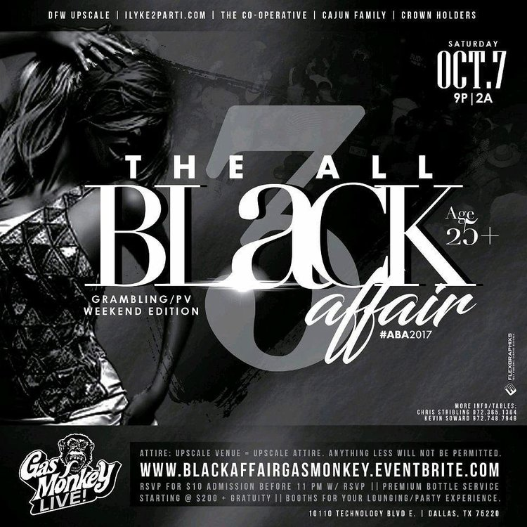 the all black affair gas monkey live dallas tx partywontstop com