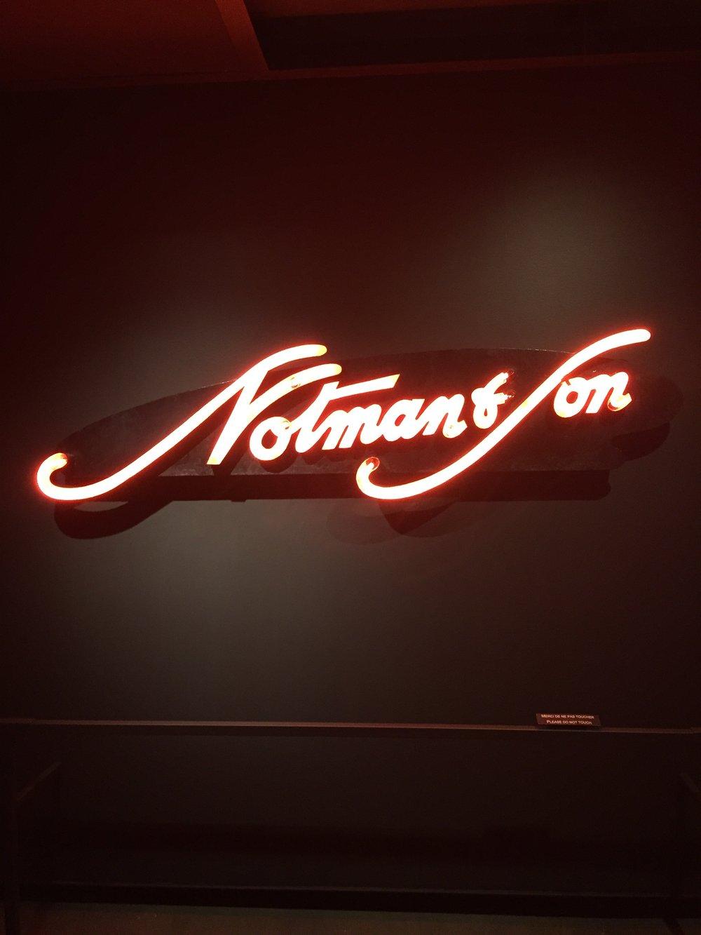 Notman & Son neon