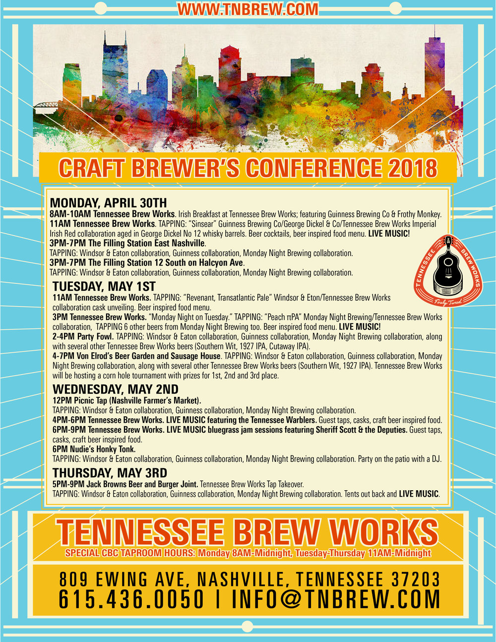 Craft Brewers Conference, Nashville, TN