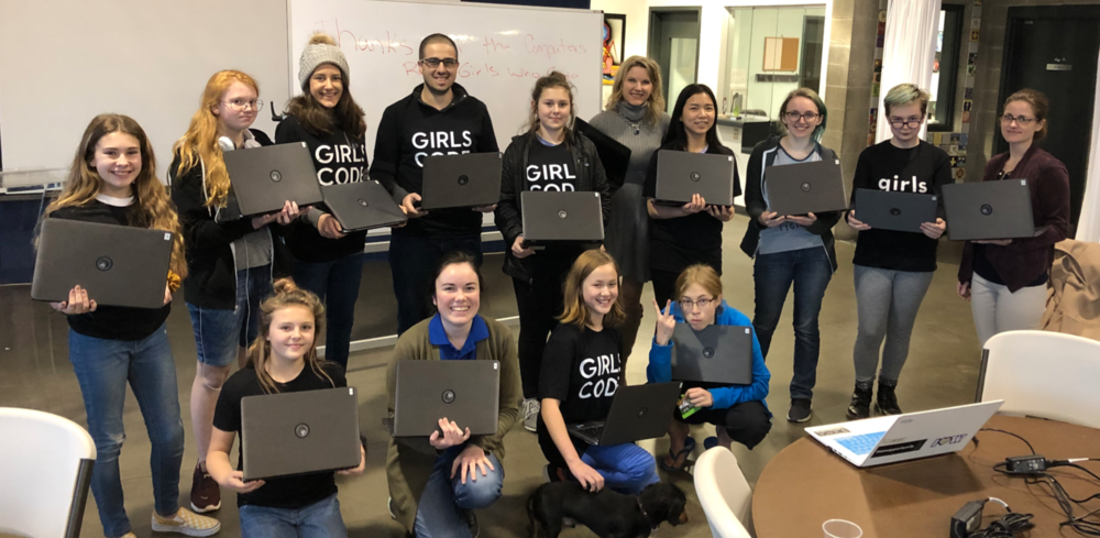 Meet some of the RAIN Girls Who Code on another Happy Wednesday!