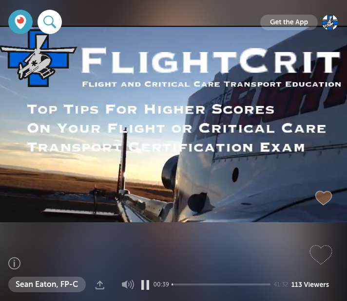 Periscope Live Broadcast - Top Tips For Scoring Higher On Your FP-C® / CCP-C® / CFRN Exam