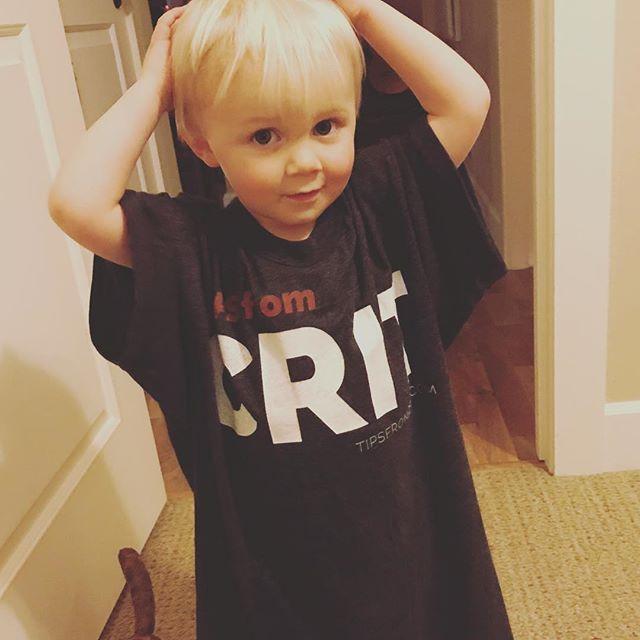 Even my little dude is a fan. www.tipsfromcrit.com