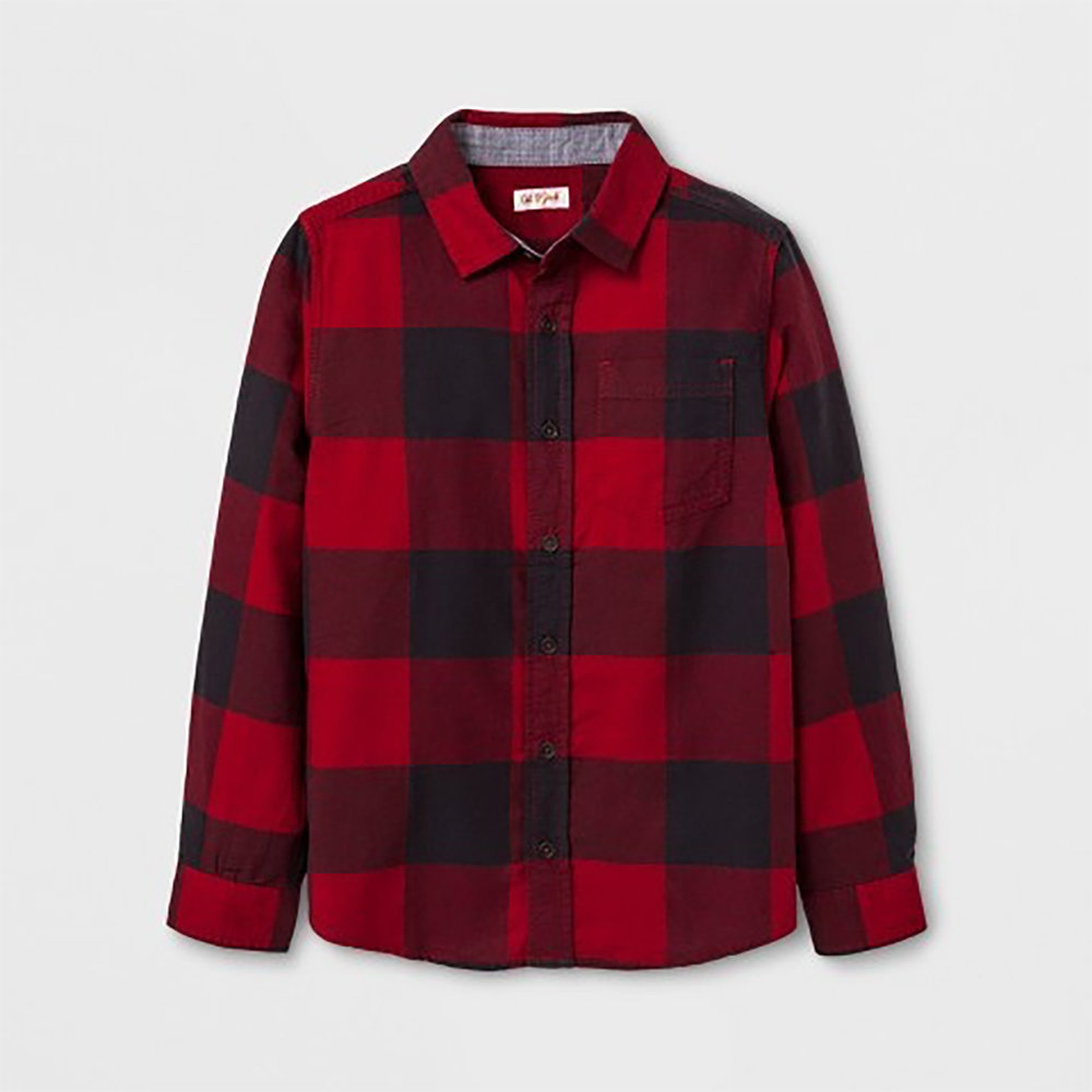 who doesn't love a kid in buffalo plaid ?