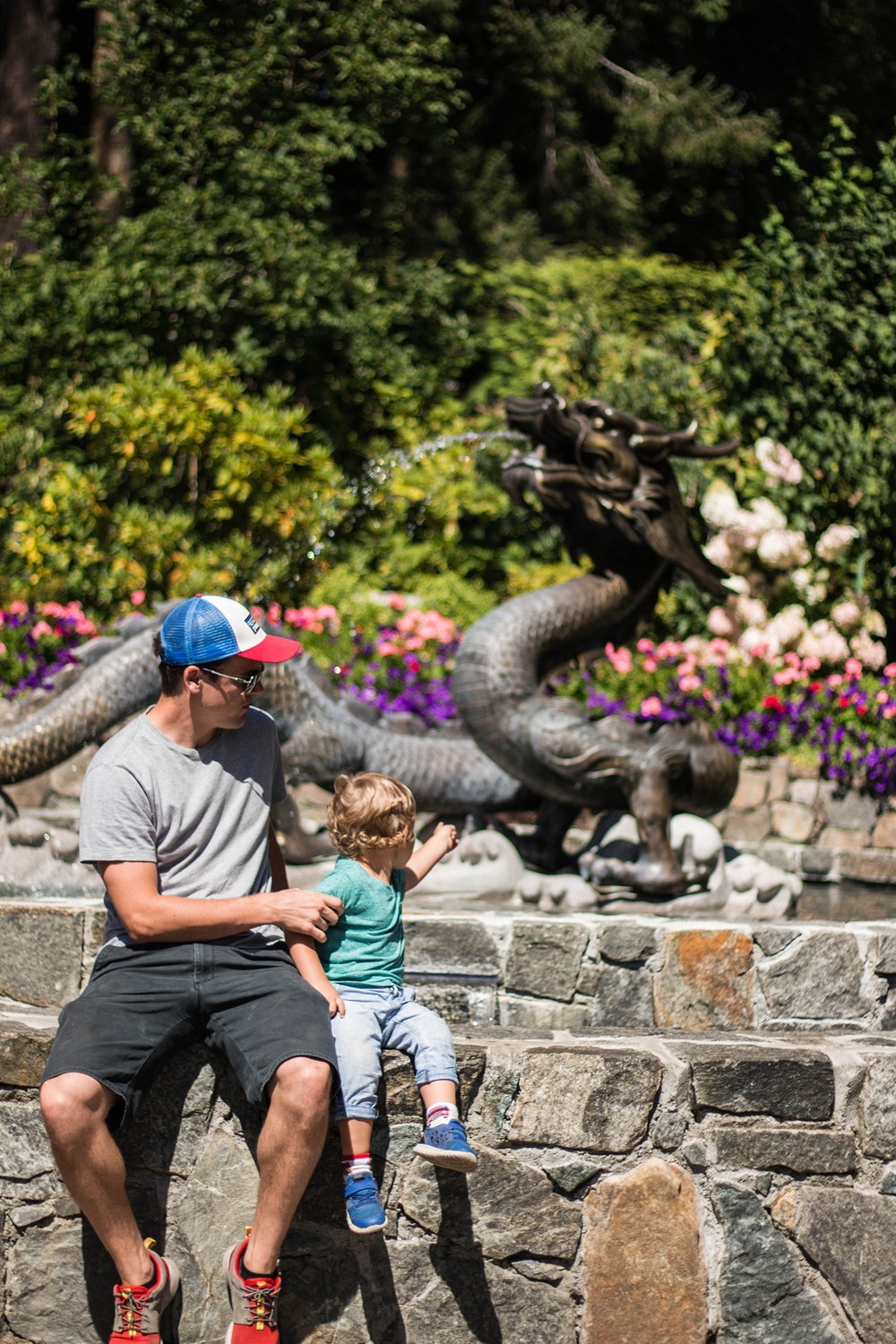 Butchart Gardens with kids Victoria BC