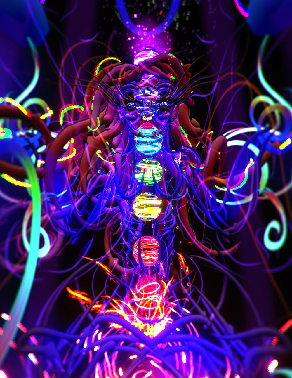 An example of previous virtual reality artwork… this is the chakra butterfly goddess : painted in google tiltbrush