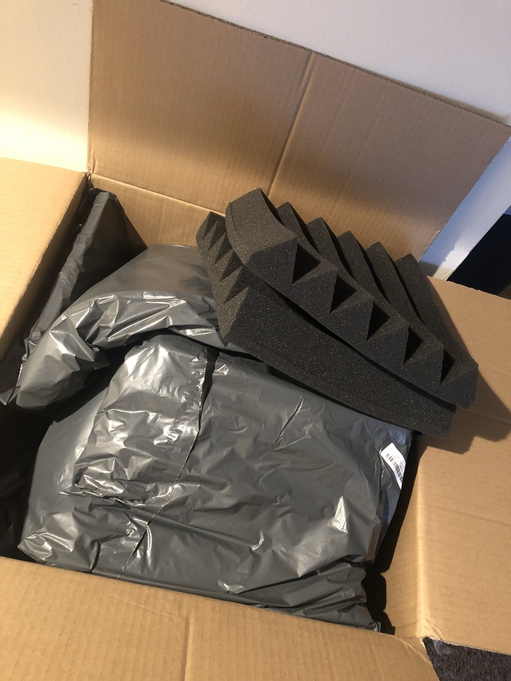 Create the greatest experience - Our studio acoustic foam JUST ARRIVED! We are excited to begin part 1 of this process. We will be posting more photos in the days to come as we embark on the beginning of Open House Studios, an extension of 4ONEthree Productions.