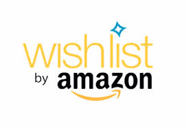 "[Image Description: Yellow, orange, and black text say, ""Wishlist by Amazon.""]"