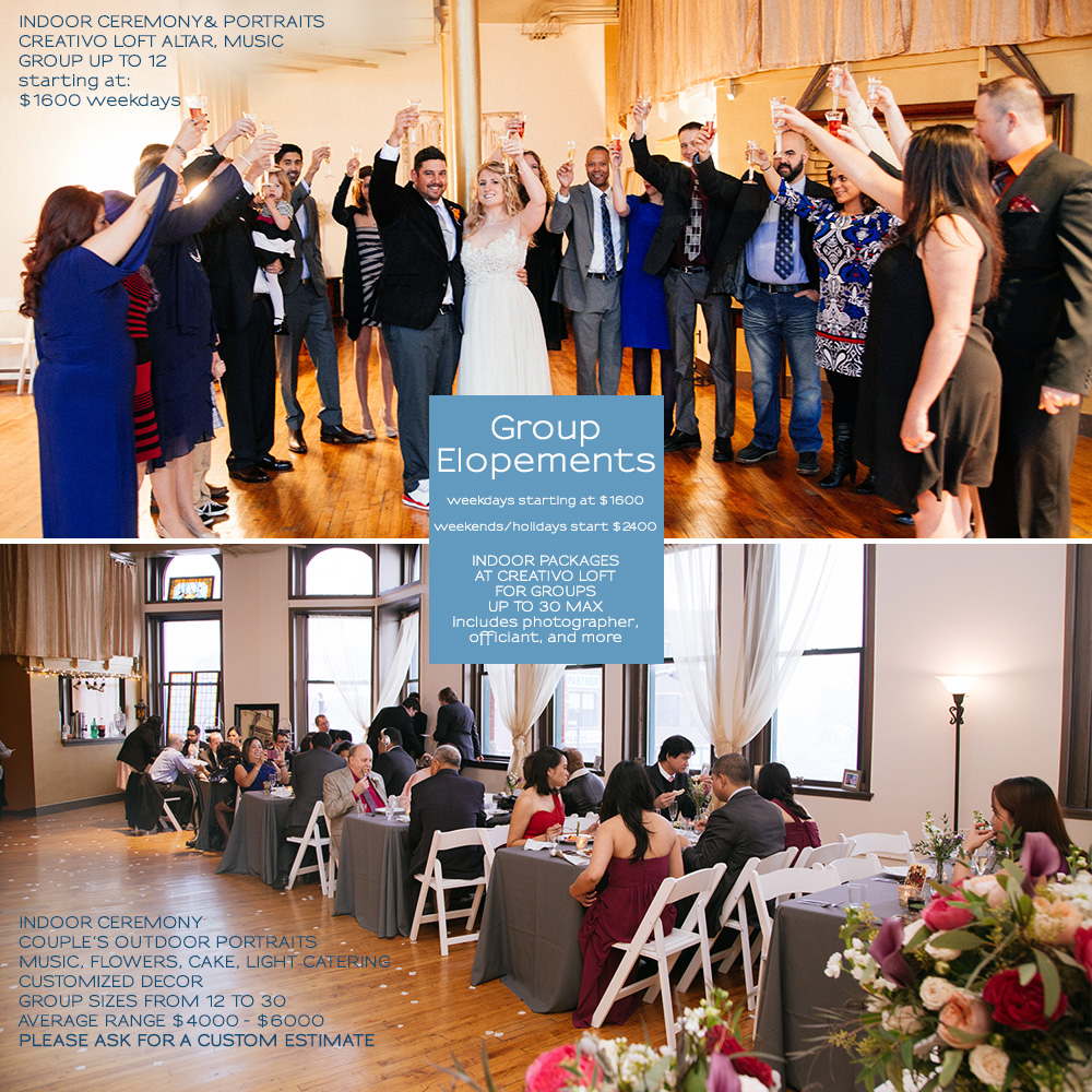 Chicago elopement packages small weddings chicago for Weekend in chicago packages