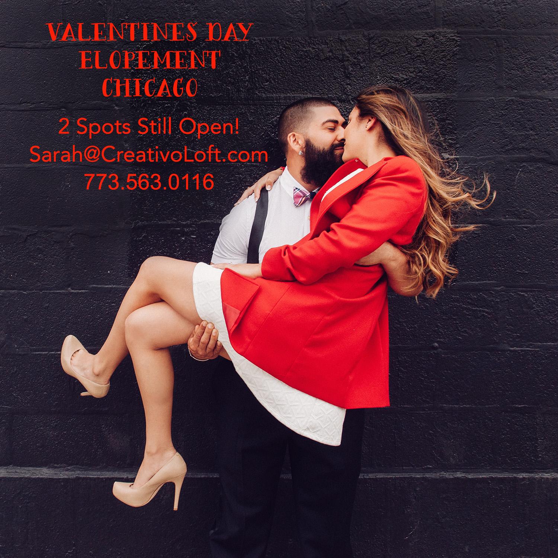 Valentines Day Chicago Elopement 2017
