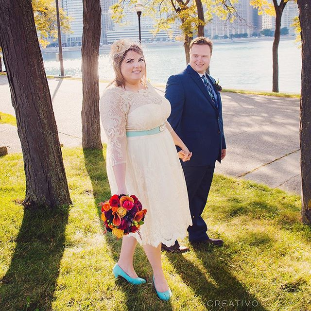 Love the Tiffany blue and vibrant colors for Erin and Jon's #elopement. #chicagoelopement #elopechicago #elope #destinationelopement #elopementwedding #elopementphotographer