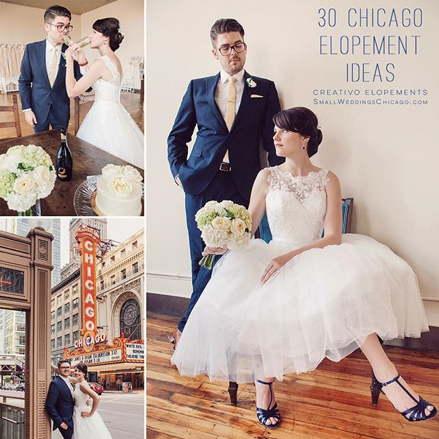 30 Chicago #elopement ideas featured on our blog SmallWeddingsChicago.com link in bio ❤️💍💋 #elopementideas #elopementwedding #elopementlove #elopementdestination #destinationelopement #elopementvenue #chicago #chicagoelopement #chicagoelopementphotographer  #chicagowedding @creativoloft @weddingcreativo
