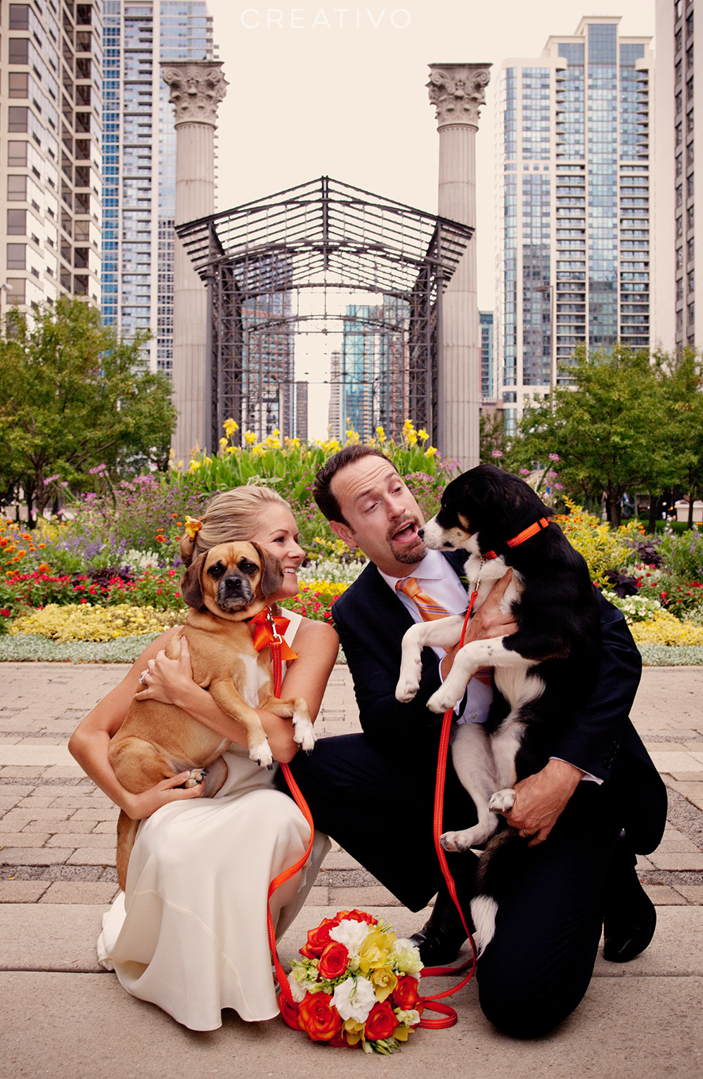 9. Chicago garden elopement with your dog