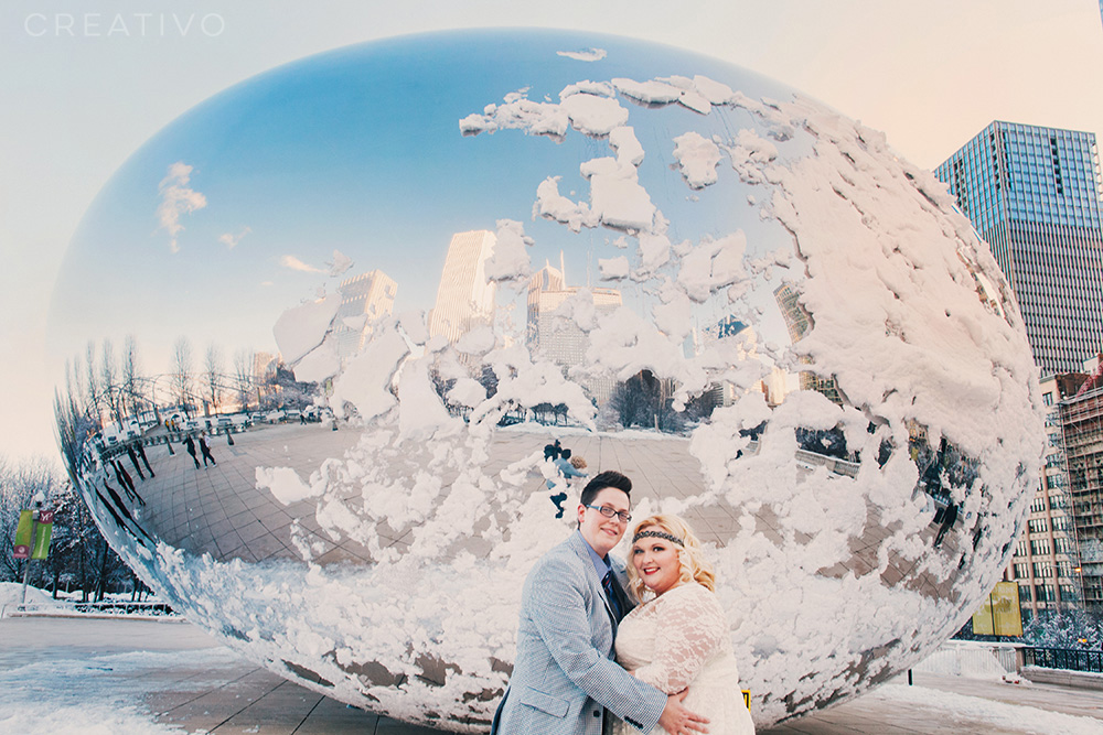 28. Winter elopement in Chicago for couples brave enough to celebrate in the snow
