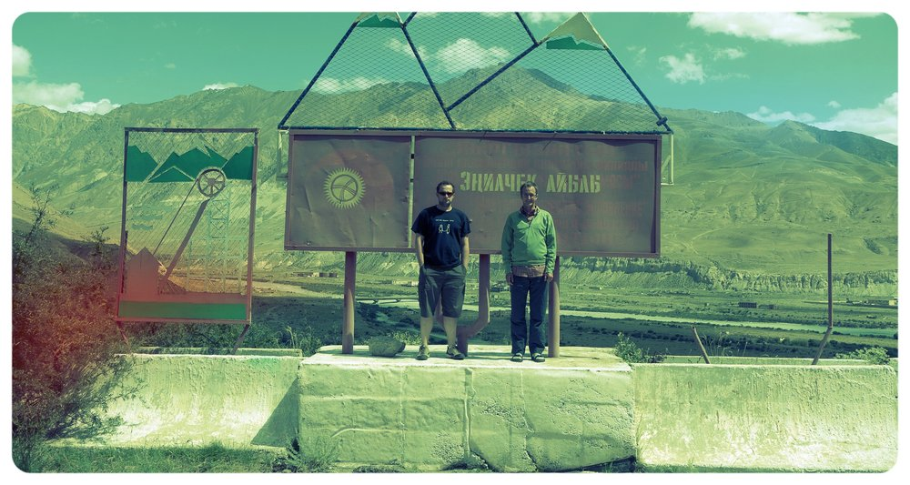 With Jakob at the 'gates' of Inylchek, Kyrgyzstan