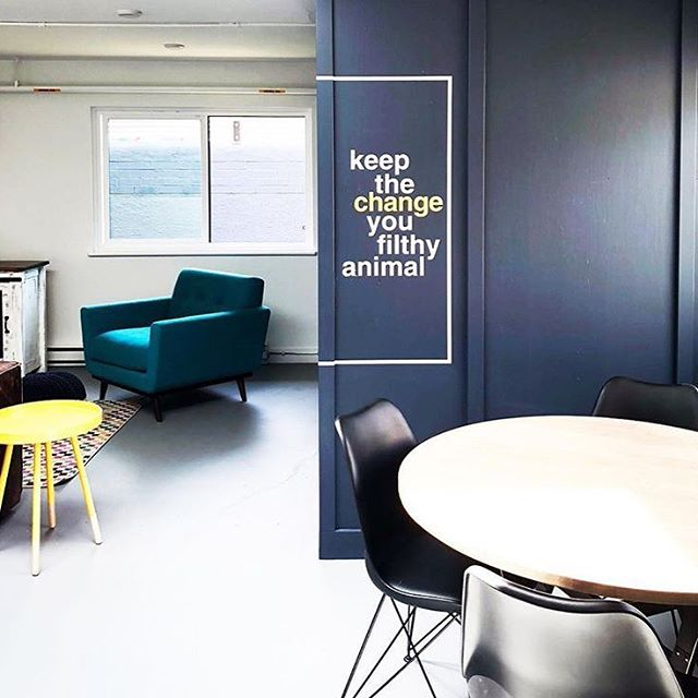 'Tis the season for some well-placed Home Alone references! This is our laundry lounge, where the machines are too high tech for coins. . . . . . . #homealone #keepthechange #filthyanimal #wallgraphic #quote #laundry #funnyquote #famouslines #90s #throwback #yyj #apartments #rental #apartmentliving #apartmentlife #welcomehome #findyourplace
