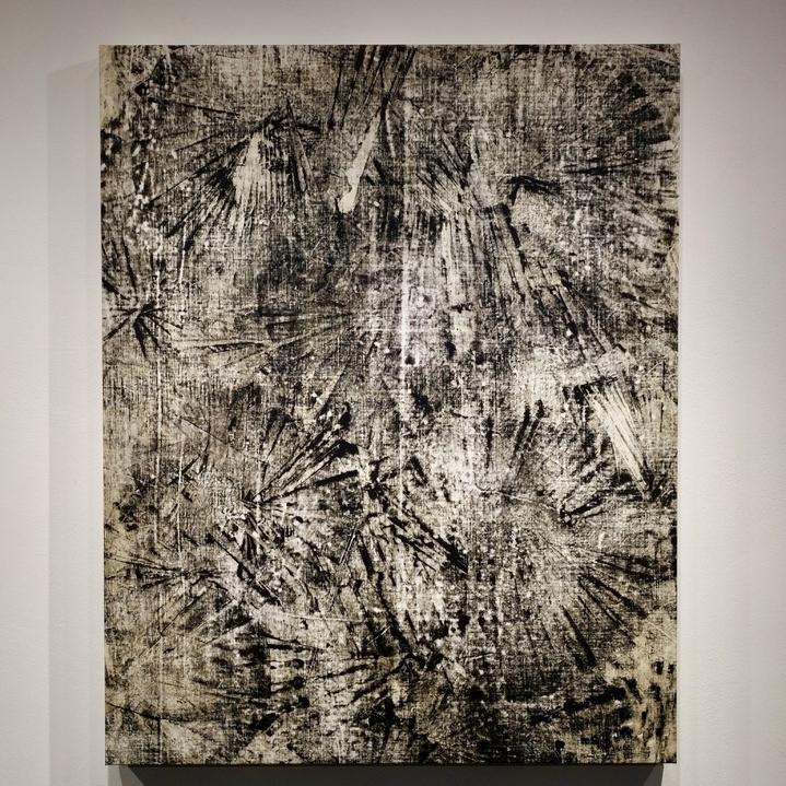 2017 Acrylic on Linen 100x80 cm title: a few stolen moments II