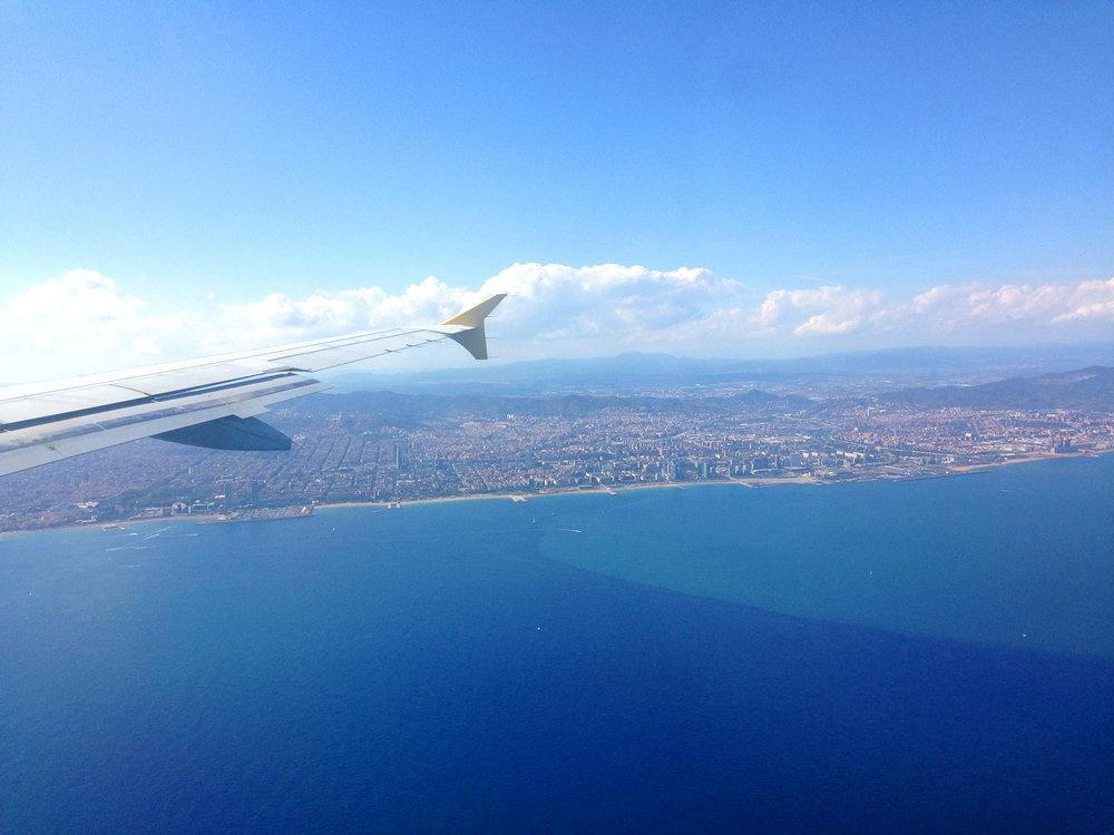 Landeanflug auf Barcelona