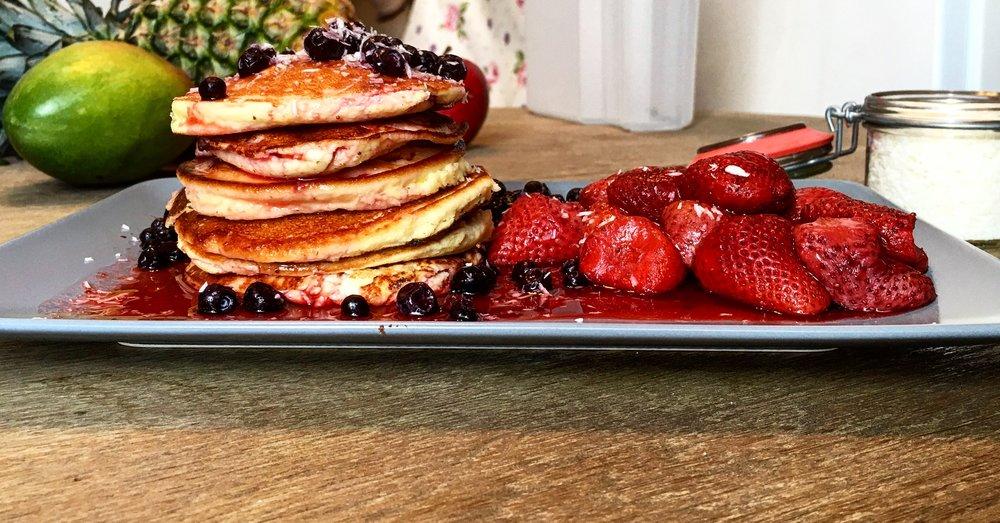 Protein-Pancakes / Eiweiß-Pfannkuchen