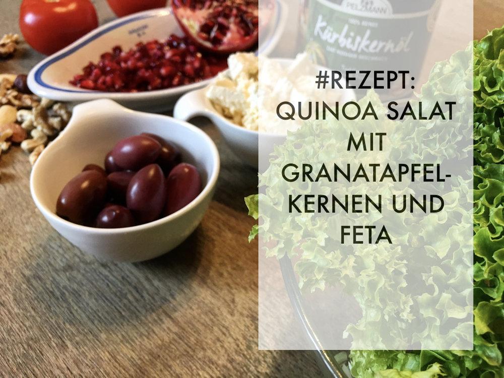 Rezept: Quino-Salat mit Granatapfelkernen und Feta