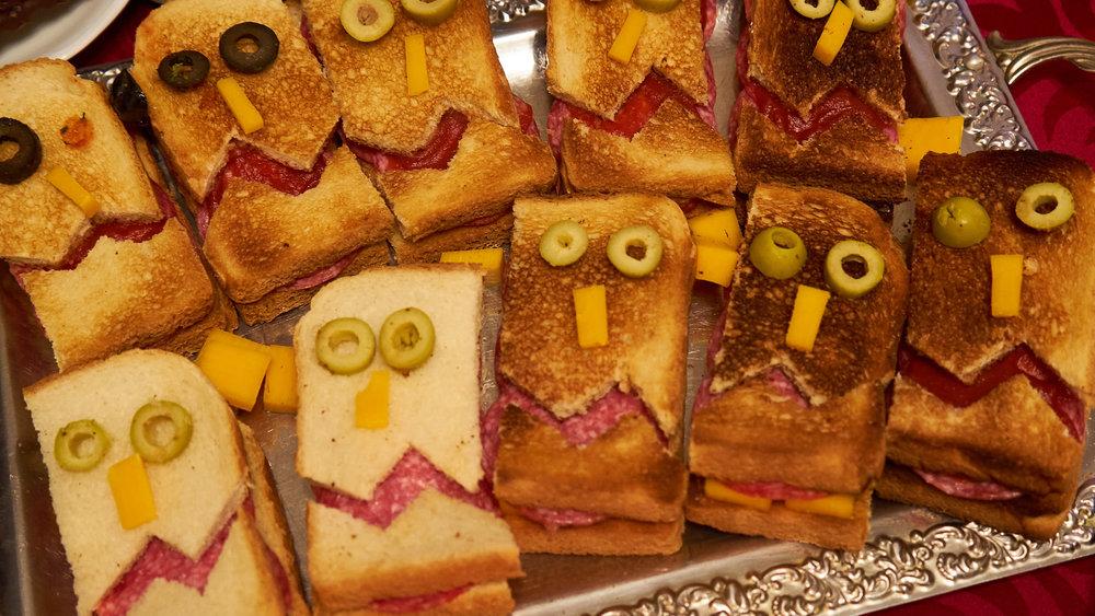 Toast mit Gesicht -