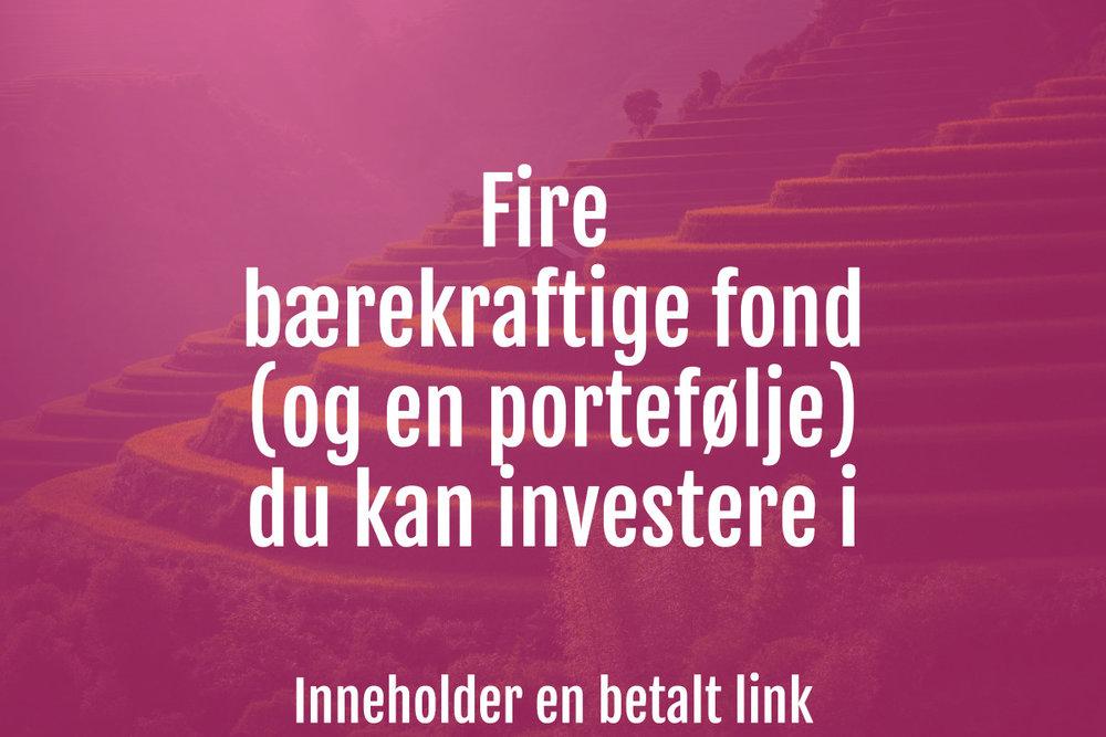 bærekraftige fond