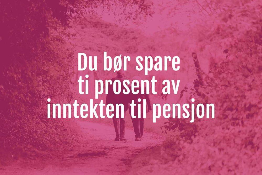 spare til pensjon