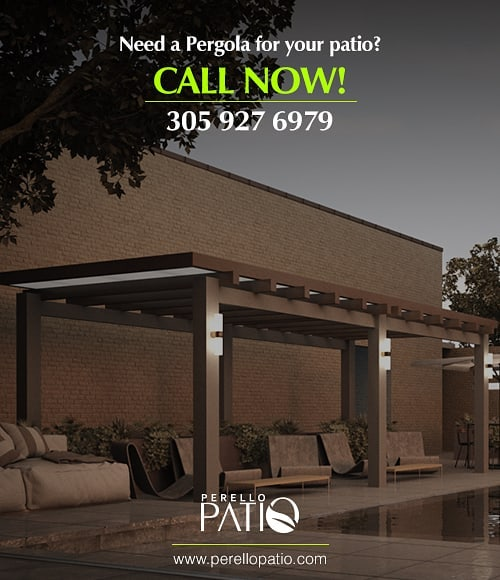 Are you looking for a pergola to give a personalized touch to your patio?  We can help you! Just call now to 305 927 6979 and request a quote. .  Call us for more information about our products and services (+1)305 927 6979  info@perellopatio.com  Office and Showroom: 5161 NW 79 AVE, UNIT 5, DORAL, 33166  #pergolas #decks #outdoordesign #outdoorkitchen #outdoor #patio #syntheticggrass  #outdoorkitchen #design #gardendesign #fences #poolfences #pool #decoration #patiodesign #exteriordesign #gardens #turf #patioidea #miami #florida #usa #developers #realtor #architect #instadesign #instagood #instalike #photooftheday