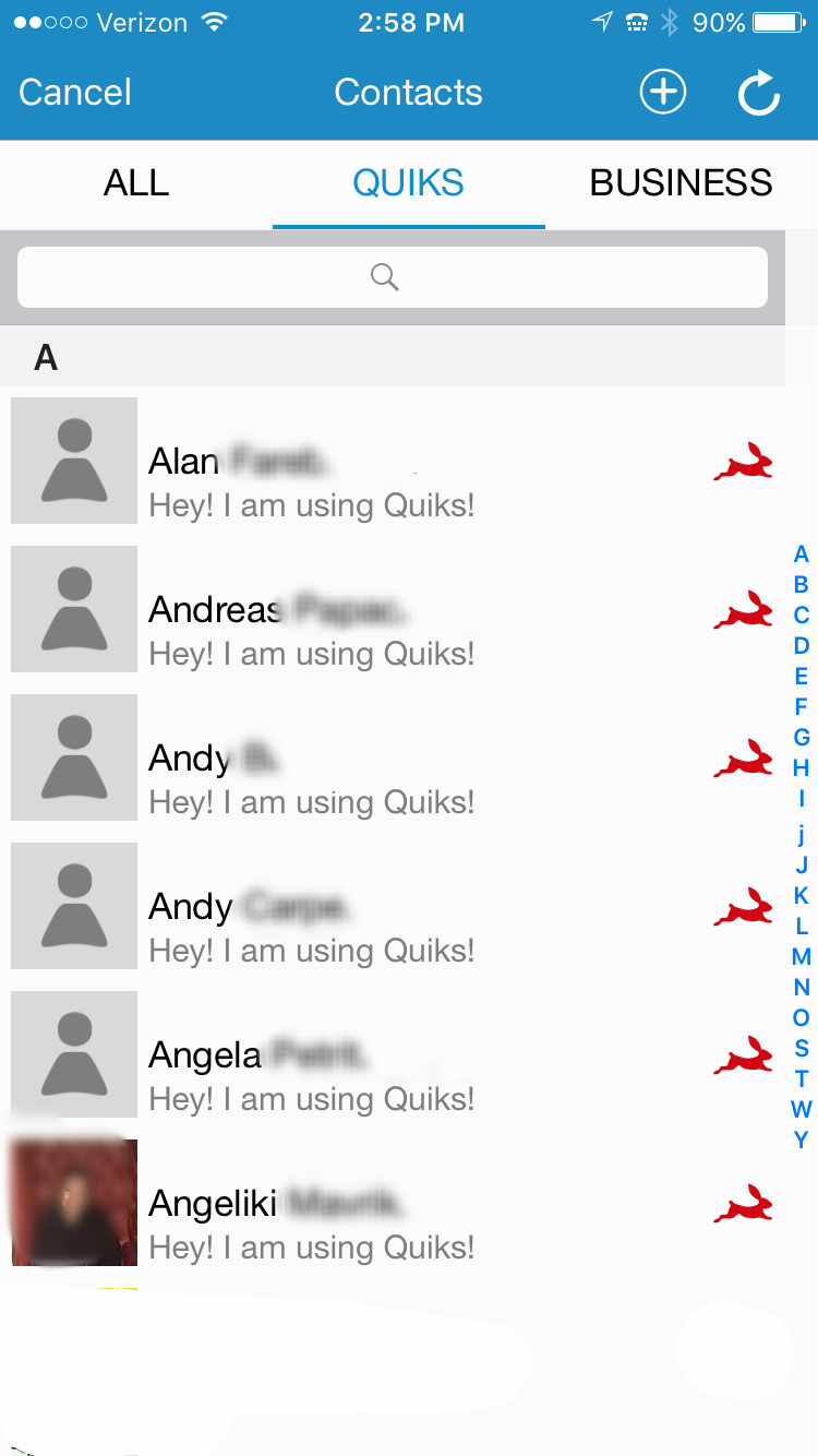 Quiks Users You Can Message