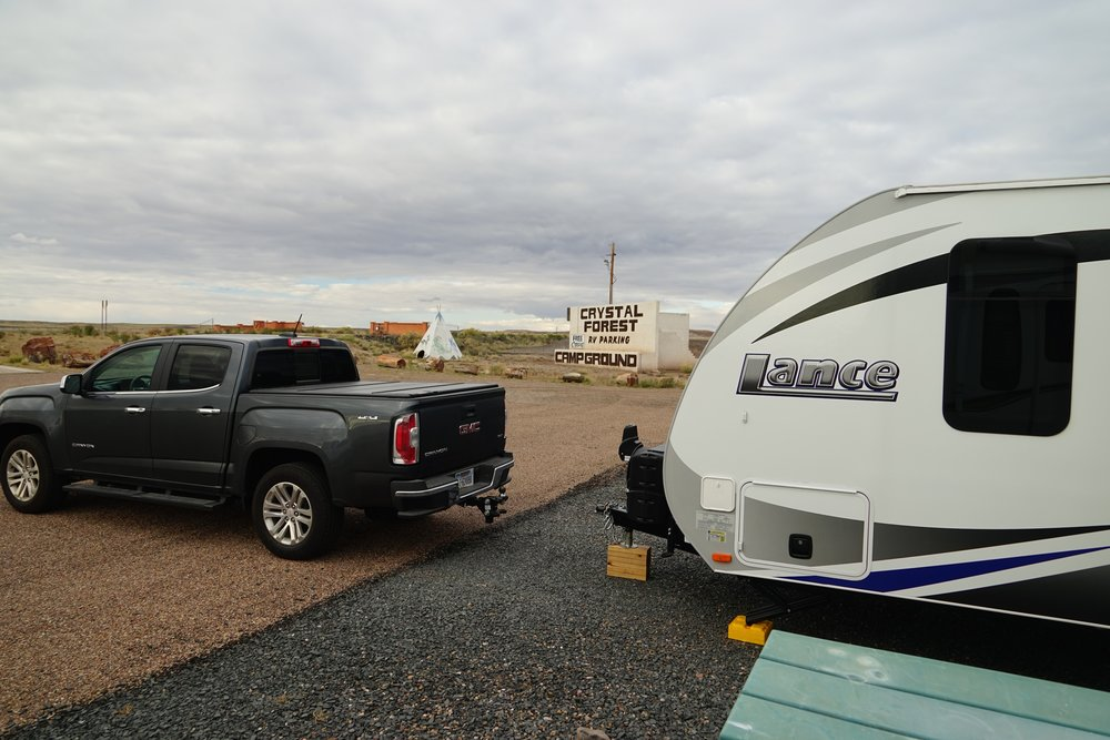 Camping outside of the Petrified Forest for FREE!