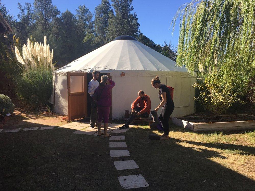 Yurt yoga