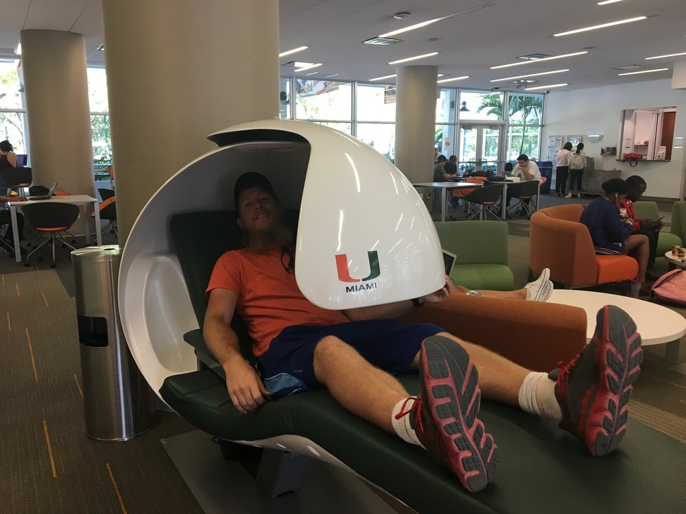 Envious of the newly installed nap pods