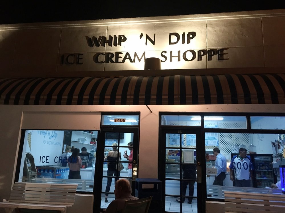 If you don't do anything else in Miami, stop at  WHIP N' DIP  for the BEST hommade ice cream.