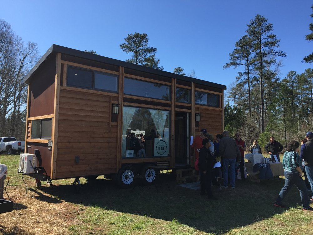 One of Dylan's favorite tiny homes by Tiny House Atlanta, he loved the large window across the front.