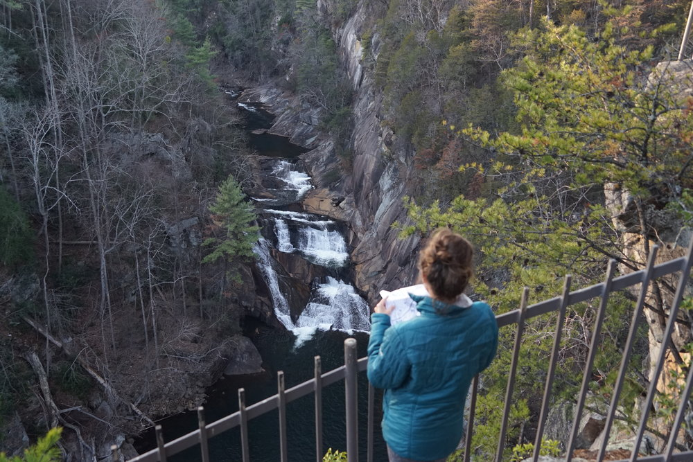 Looking down on Tallulah Gorge