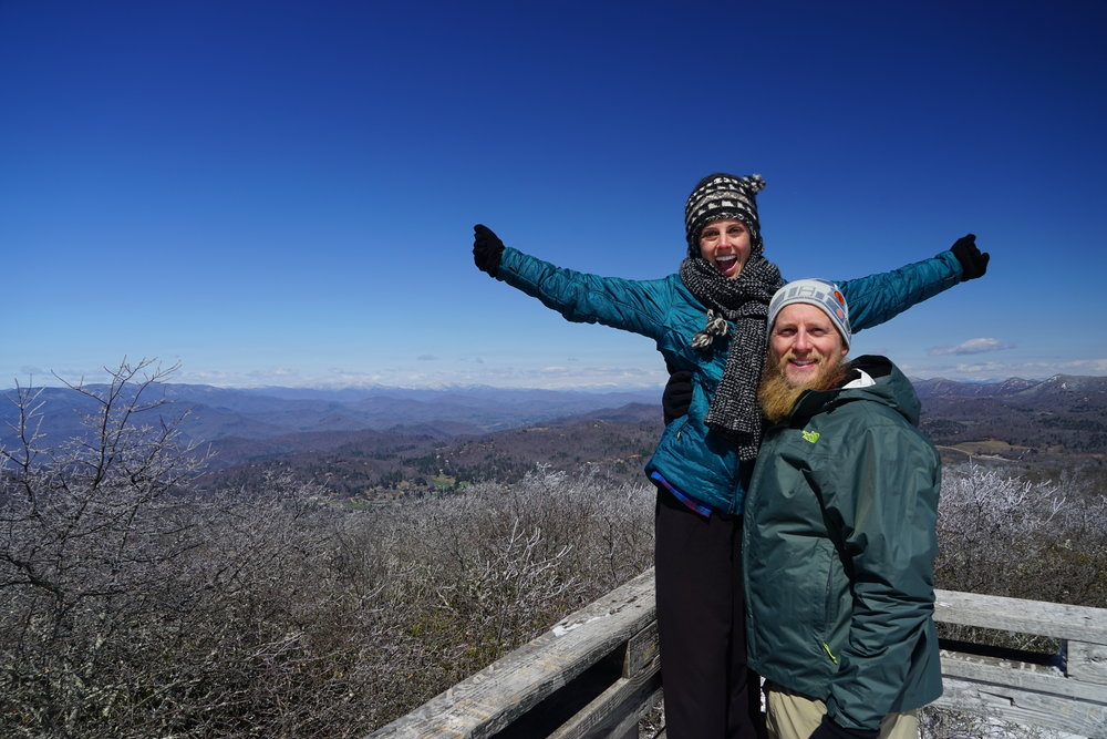 At the observation deck on Rabun Bald
