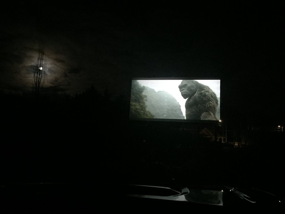 Watching Kong: Skull Island at Tiger Drive-In