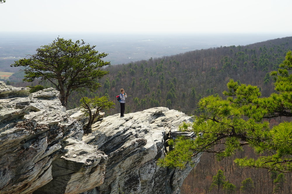 Hiking at Hanging Rock State Park