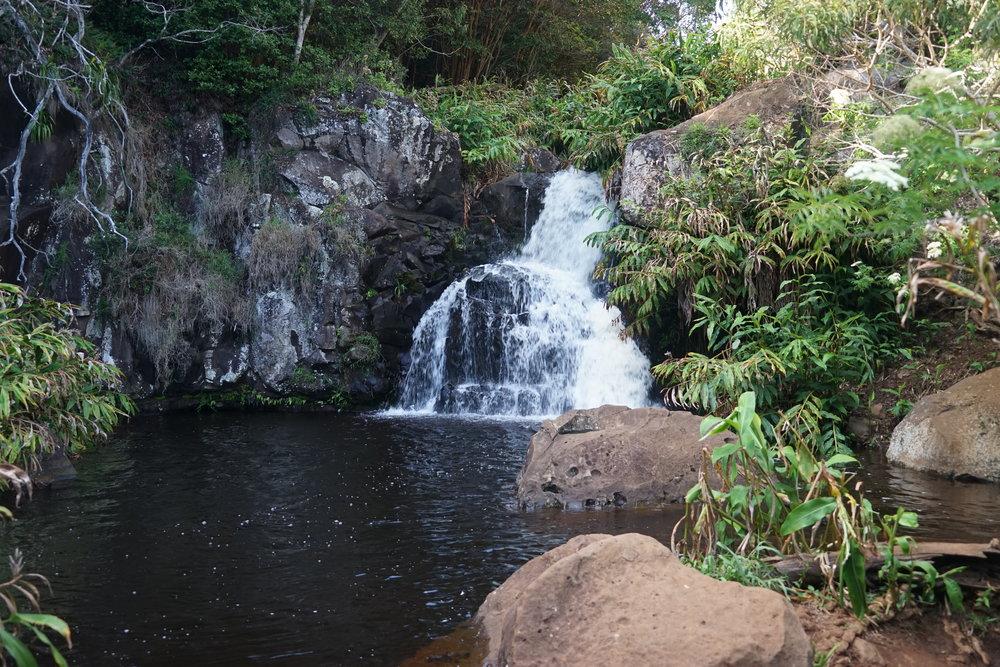 Small waterfals that feeds into Waipo'o Falls