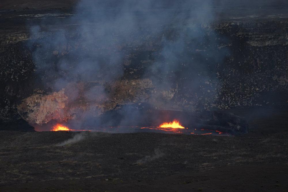 Lava at the  Halema'uma'u crater
